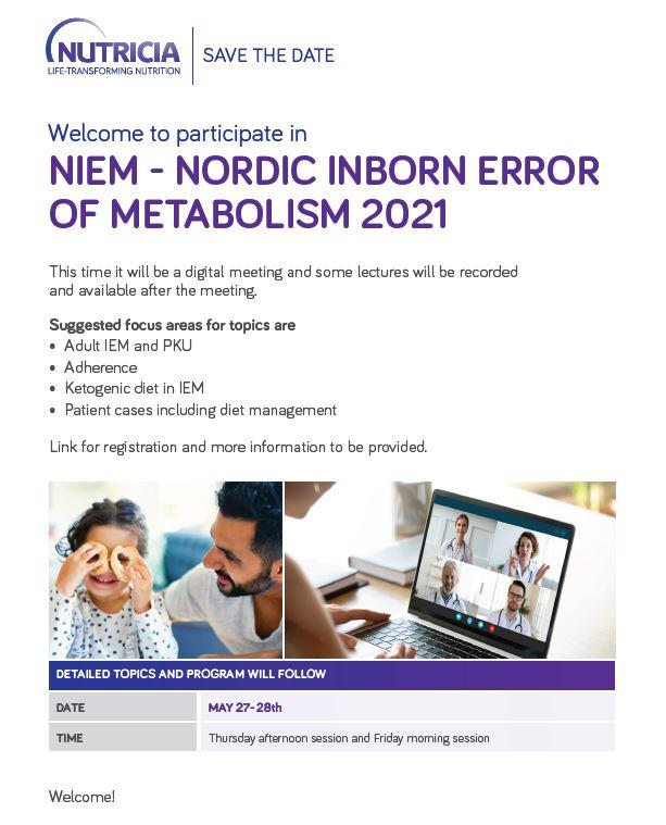 Nordic Meeting of Inborn Errors of Metabolism 27. - 28. mai 2021