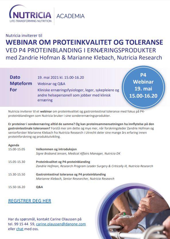 Webinar om proteinkvalitet og toleranse 19. mai
